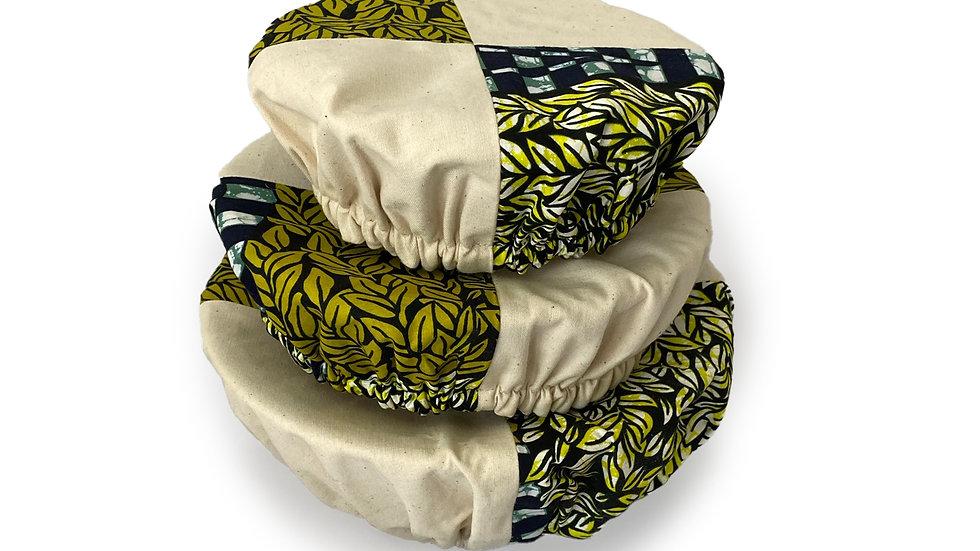 Festive Fern Bowl Covers (Set of 3)