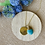 Thumbnail: Recycled Brass & Stone Double Drop Necklace