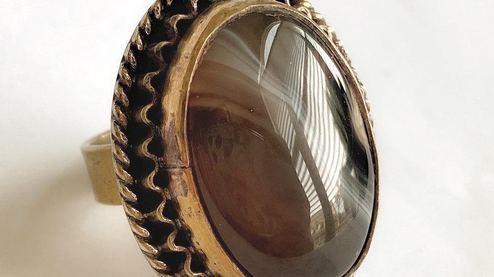 Chocolate Stone Ring
