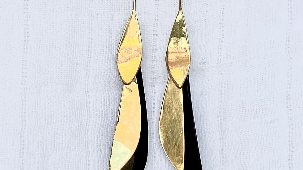 Oriole Feather Earrings
