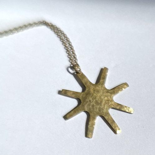 Brass Starburst Necklace
