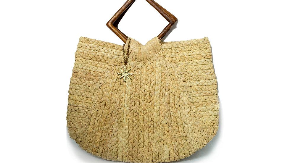 Woven Beach Bag - Square Handle