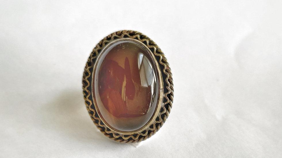 Shimmering Amber Ring