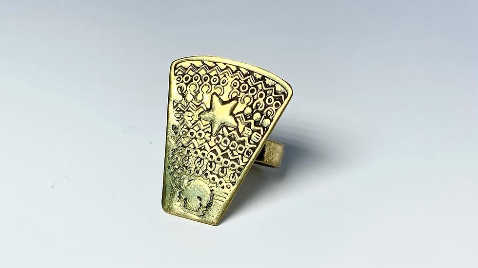 Lucky Star Brass Ring