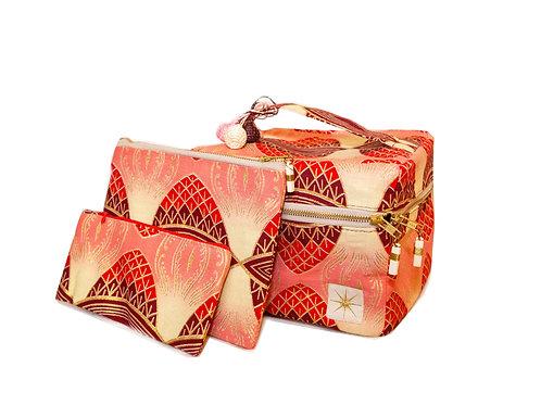 Pink Geo Makeup Bag