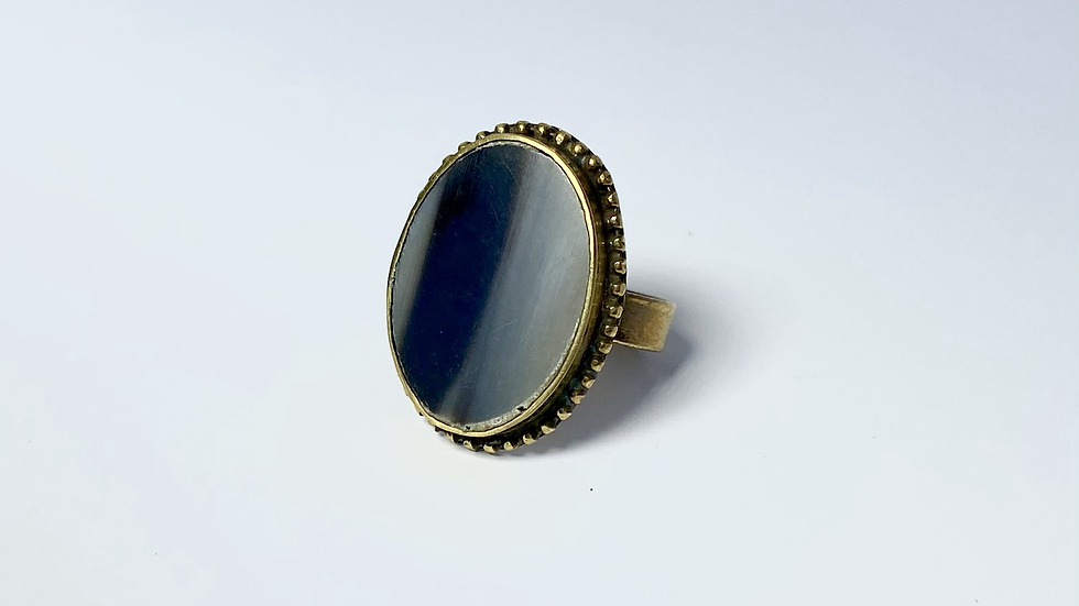 Charcoal Marble Ring