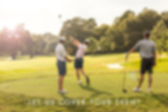 Event photography showing golf players