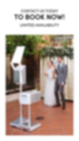Photo Booth Wedding with Bride and Groom