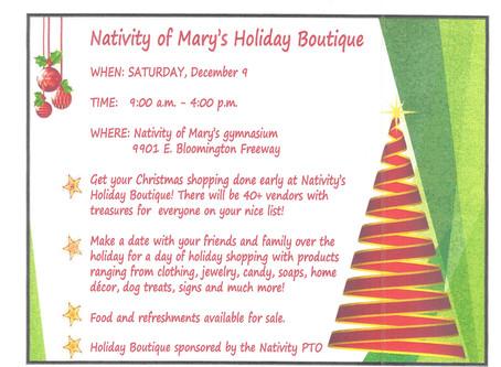 Nativity of Mary Holiday Boutique