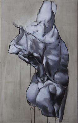 Torzo I, oil & acrylic on canvas, 95x60 cm, 2016
