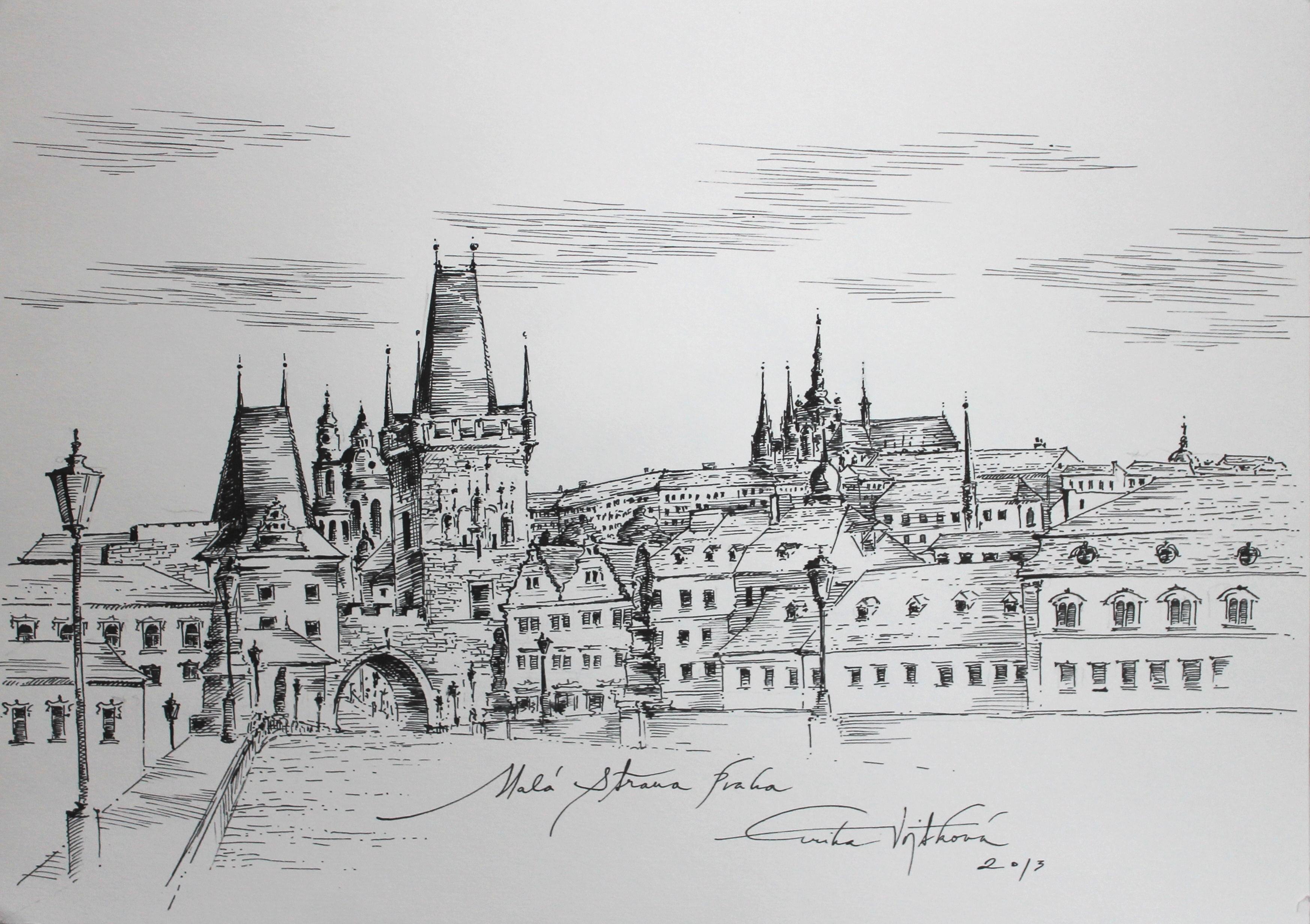 The Lesser quarter, Prague 43x53 cm