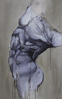 Torzo II, oil & acrylic on canvas, 95x60 cm, 2016