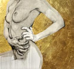 Pleasure-Sin or Virtue,oil,24kr gold