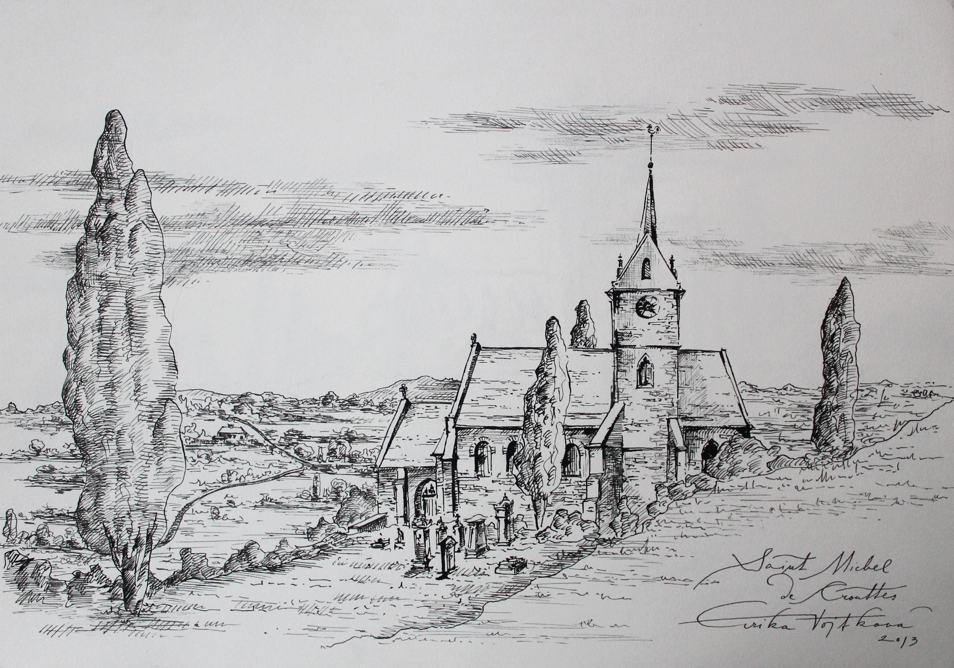 Saint Michel de Crouttes 43x53 cm