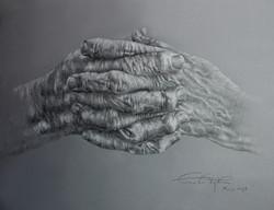 Hands II. 50x70 cm