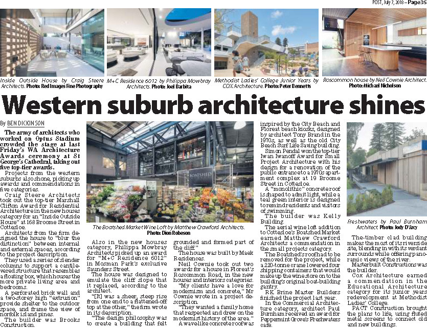 The Post Western Suburb Architecture Shines