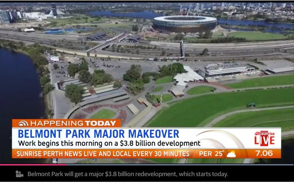 New development of 4500 apartments next to Optus stadium perth