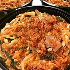 Zucchini Spaghetti with Meatsauce