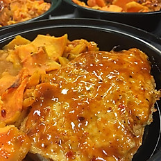 Chicken Meatloaf with Scalloped Root Vegetables