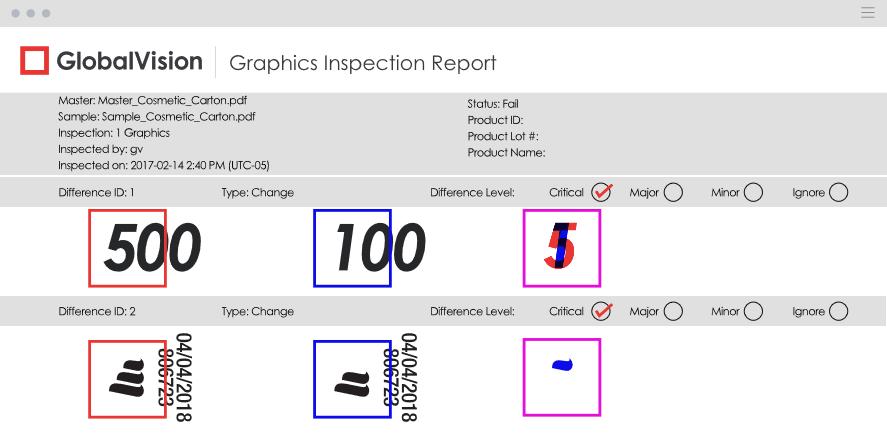 그래픽 검사 리포트