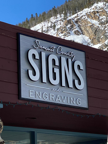 Summit County Signs   3d Wood signs