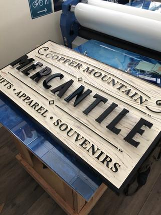 Mercantile Copper 3d wood sign