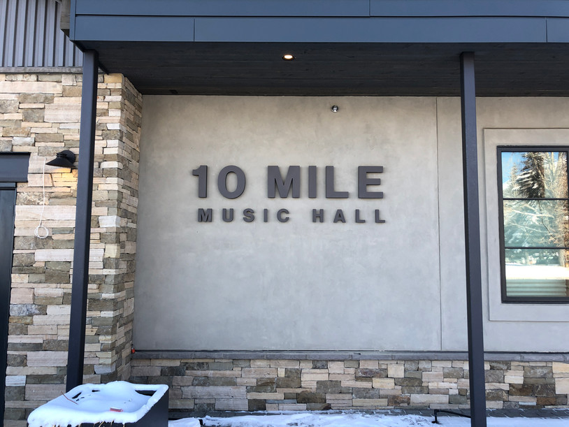 10 mile music hall - 3d wood lettering sign
