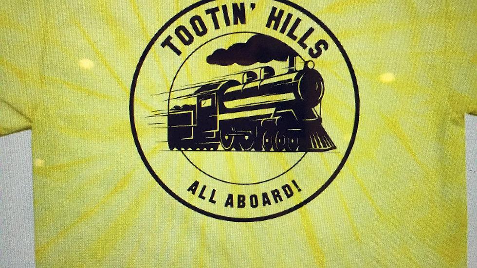 Tootin' Hills Yellow Tie-Dye T-shirt