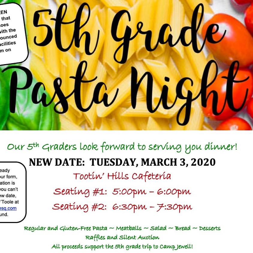 5th Grade Pasta Night
