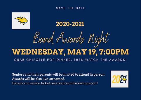 2020-2021 Band Awards Night Save the Dat