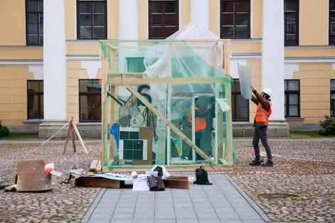 Инсталляция и перформанс от участников Школы молодого художника ПРО АРТЕ «Музей самоорганизации»
