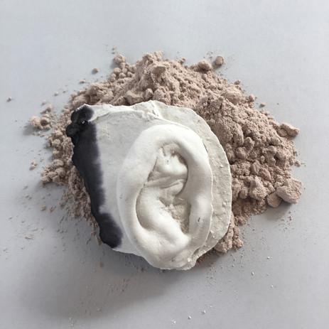Will Owen Hydrocal, Protein Powder, Ink,