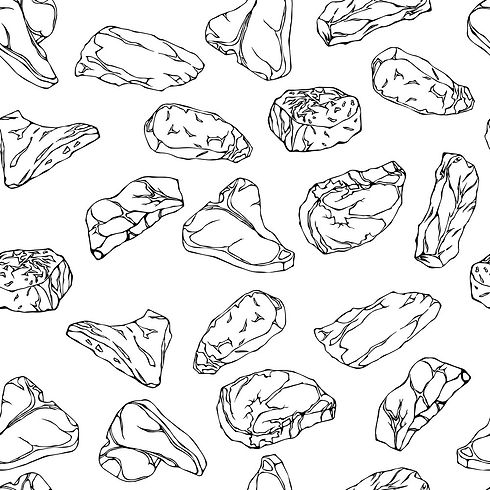 beef-steaks-seamless-background-outline-