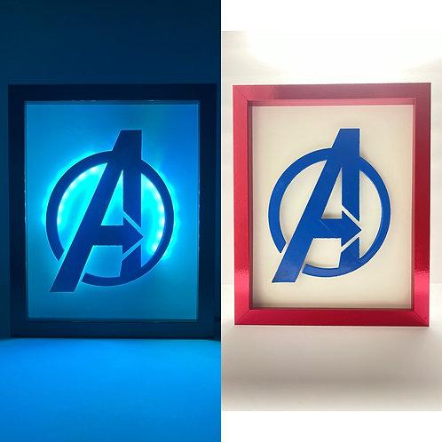 Avengers Logo LED Sign 8x10