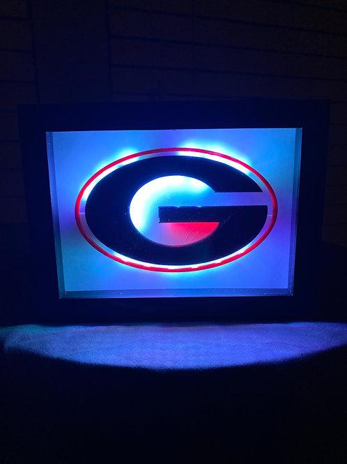 Georgia Bulldogs LED Wall Sign Gift