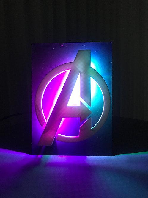 Avengers Logo LED Wall Piece