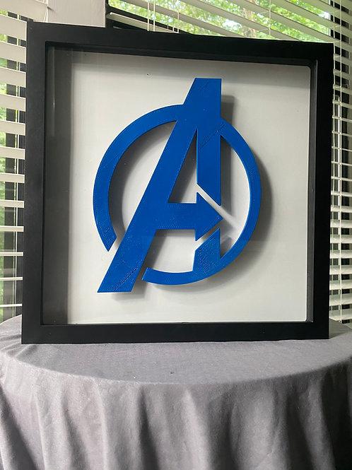 Large Avengers Logo LED Wall Piece