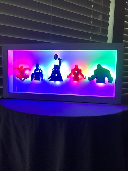 Avengers LED Wall Wall (Spiderman, Captain America, Thor, Ironman, Hulk)