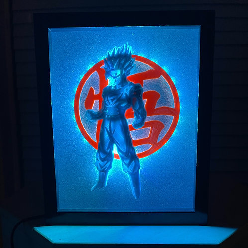 Large Goku Super Saiyan LED Sign 11x14