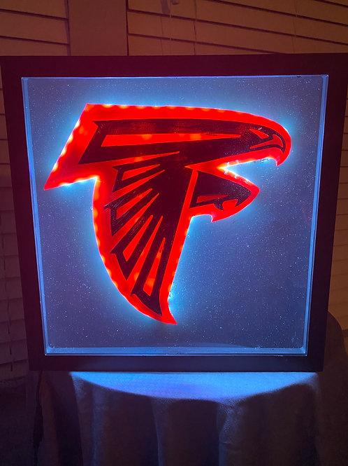 Large Atlanta Falcons LED Wall Piece