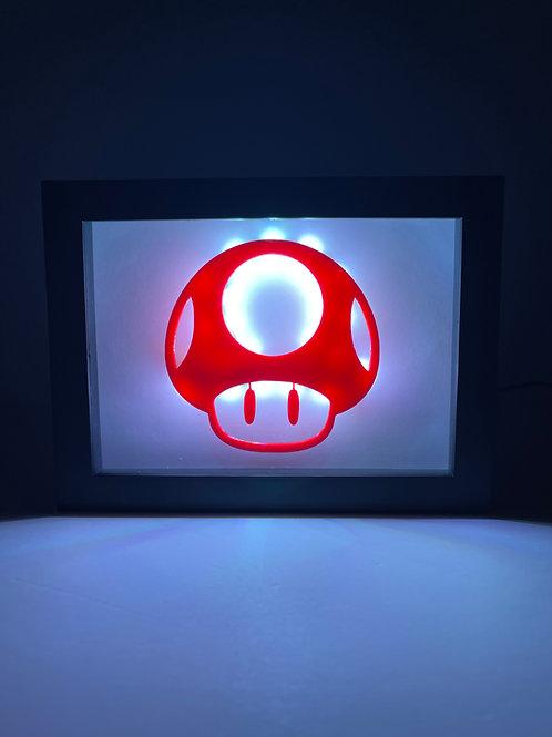"""Mario One Up Mushroom LED Sign 5x7"""""""