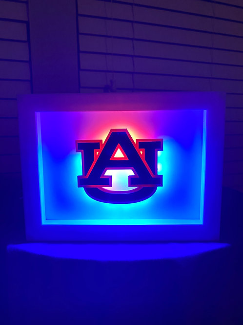 Auburn University Football LED Wall Piece