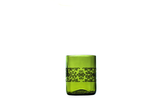 Green Olive Batik Drinking Glass