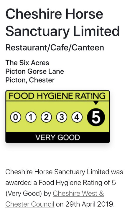 We Have Been Awarded A Food Hygiene Rating of 5!