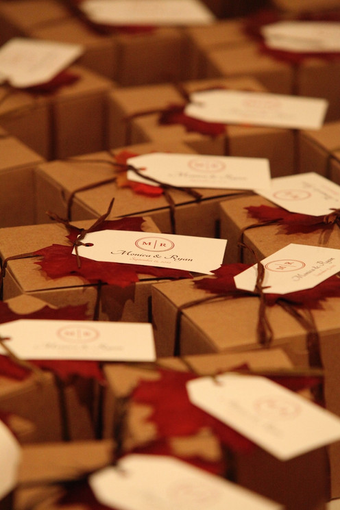 Fall handmade dessert favor boxes