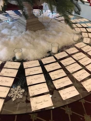 Winter Escort Card Table