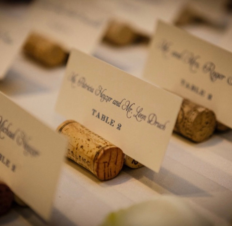 Wine cork plae card holders
