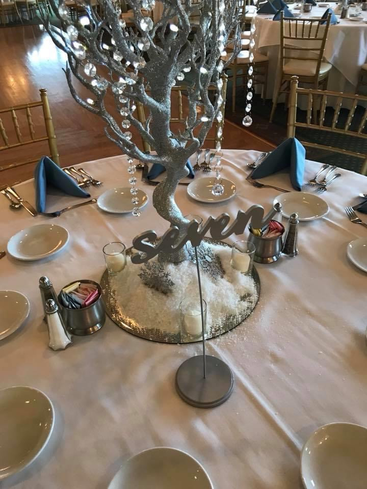 Centerpiece and Table Numbers