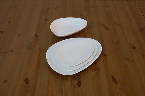 Teller-Set oval