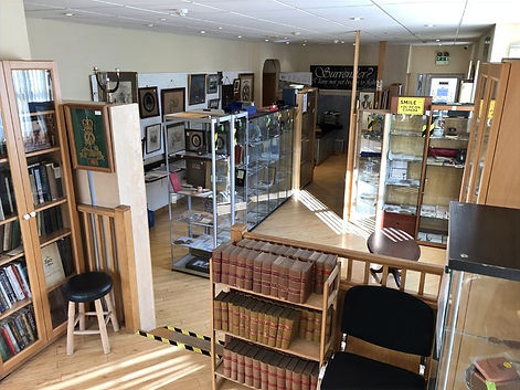Military Medals and Books Bedford - Inside of Militaria Shop